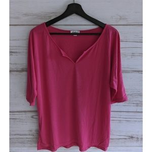 NWOT Jordann Soft Pink V Neck Tee